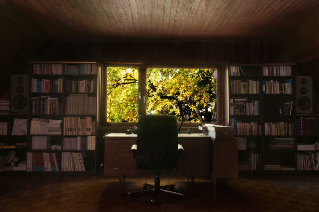 Yun-Haus - Arbeitszimmer
